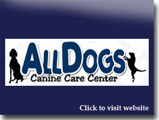 Link to website for All Dogs Canine Care Center