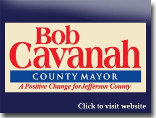 Link to website for Bob Cavanah for Jefferson county mayor